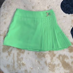 VERSACE Lime Green Pleated Skirt